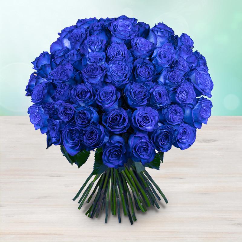 Kytice 50 modrých luxusních růží